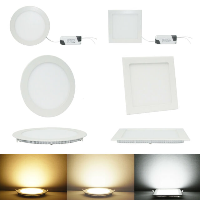 6W/9W/12W/15W/18W/21W Dimmable CREE LED Recessed Ceiling Panel Down Lights Lamp