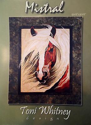 MISTRAL Art Quilt Pattern by TONI WHITNEY horse stallion mane