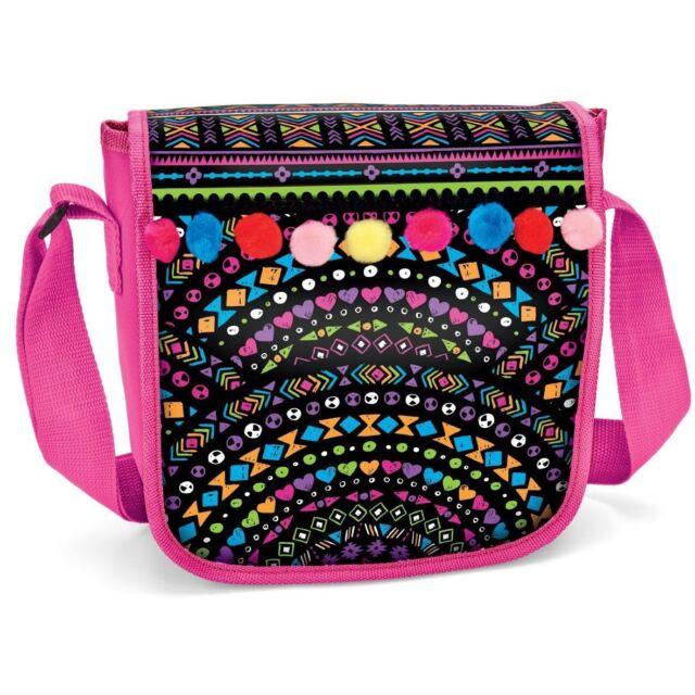 Shimmer N' Sparkle POM POM MESSENGER BAG - Create Your Own BAG - NEW