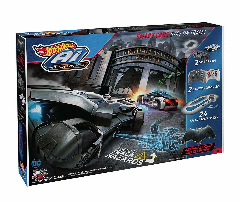 Hot Wheels AI Starter Set Batman Batmobile Arkham Asylum Chase Juego de pista de edición
