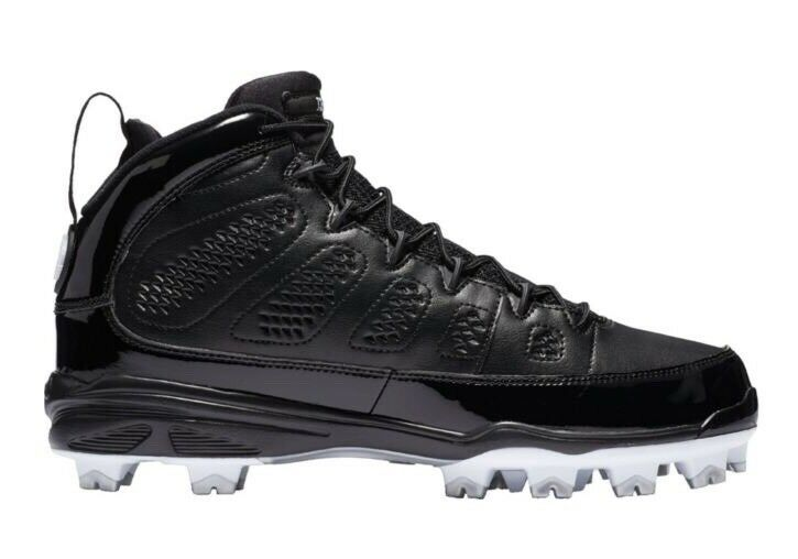 Air Jordan Retro 9 IX MCS Cleats Black White Re2pect Baseball Sz 13 AA1264-011