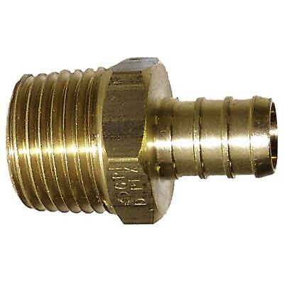 "G51 Zurn Quest 3//4/"" Brass PEX Barb Insert x MNPT Male Adapter Crimp FAST 5"