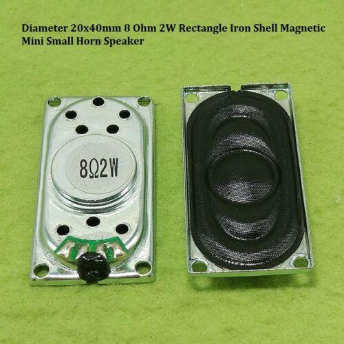 Diameter 20x40mm 8 Ohm 2W Rectangle Iron Shell Magnetic Mini Small Horn Speaker