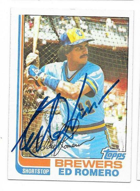 ED ROMERO 1982 TOPPS AUTOGRAPHED SIGNED # 408 BREWERS