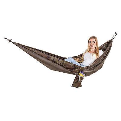 Adventurer Single Outdoor Garden Camping Hammock Seat Bed - Camouflage
