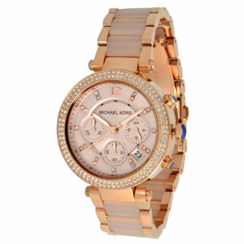 Michael Kors Reloj de Mujer MK5896 Cronógrafo Acero Inoxidable Color: Oro Rojo