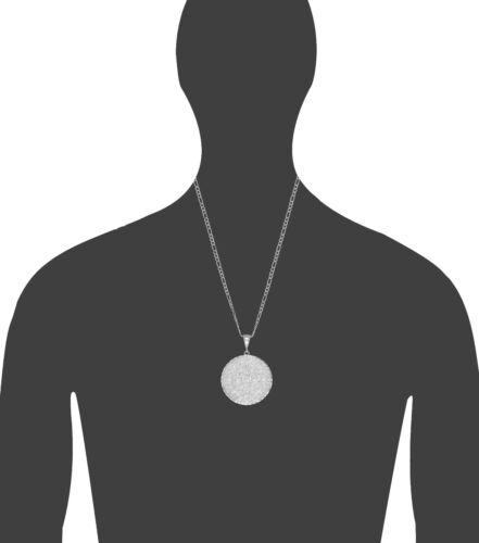 Sterling Silver Aztec Calendar Mayan Sun Charm Pendant Necklace Diamond-Cuts