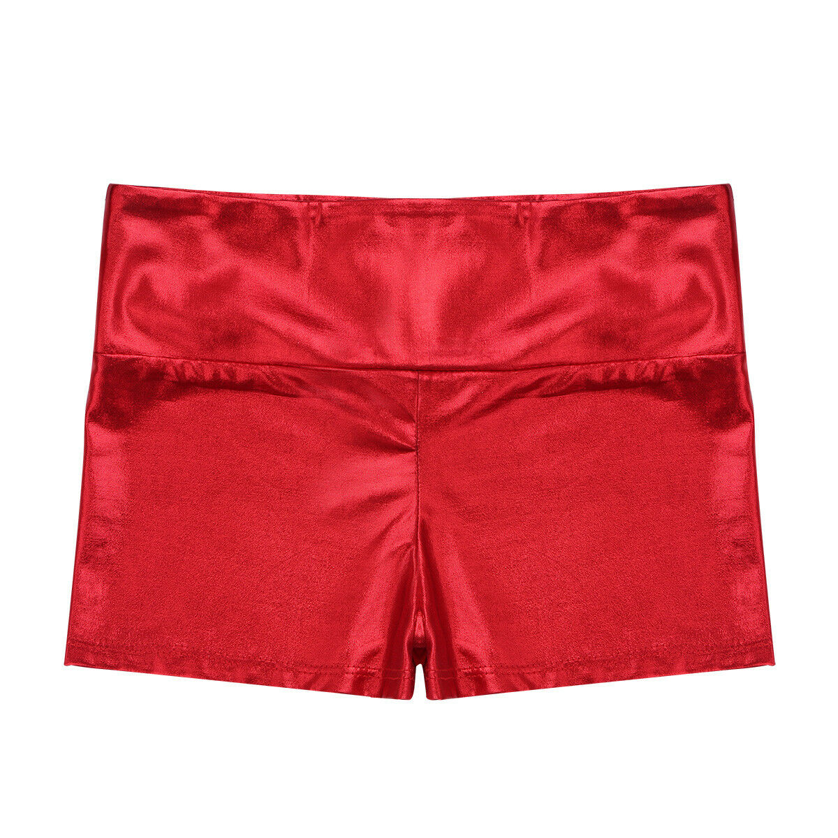 Kid Girl Metallic Shiny Shorts Ballet Jazz Dance Wear Sports Bottoms Gym Costume