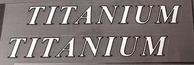 1 Pair sku merl210 White Titanium Top Tube Decals