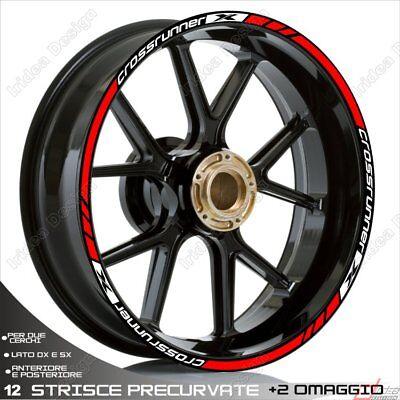 SET PROFILI CERCHIO ADESIVI BICOLORE BMW K1200R K1200 R WHEEL STRIPS BIANCO ARGE