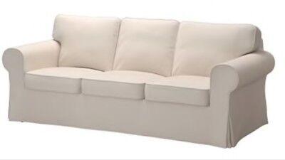 Slipcover 3 Cushion Sofa Fits Pottery Barn Pb Basic Ebay