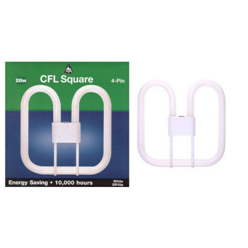 Philips Bell Branded 2D Square Low Energy CFL Cool White Lamps 2 pin and 4 pin