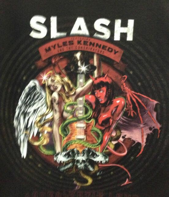 SLASH MUSIC BAND T-SHIRT  SHORT SLEEVE BLACK  UNI-SEX COTTON MACHINE WASHABLE