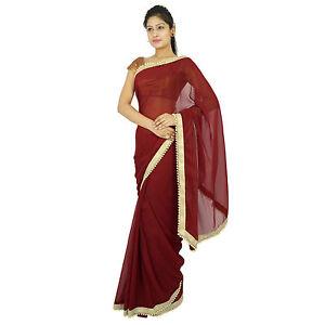 Indische-Designer-Saree-ethnische-Partei-Sari-Bollywood-Hochzeitskleid-tragen