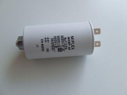 MOTOR Condensatore MIFLEX 450v 4//6//8//10//12//16//20//25//30//40//50µf steckverb inde 6,3mm