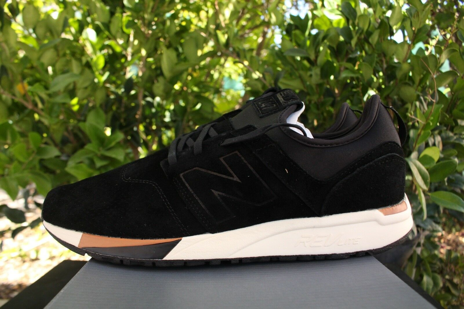 NEW BALANCE 247 SZ 12 BLACK WHITE TAN LUXE 2.0 SUEDE MRL247WU
