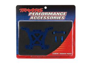 Traxxas-1-10-Stampede-4x4-XL-5-REAR-SHOCK-TOWER-BLUE-ANODIZED-ALUMINUM-6838X