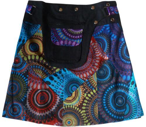 Fair Trade Hippy Boho Festival Dance Utility Belt Wrap Popper Skirt Free Size