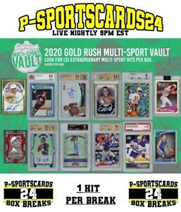 2020-GOLD-RUSH-MULTI-SPORT-CARDS-VAULT-LIVE-PACK-BOX-BREAK-3730-1-DIVISION