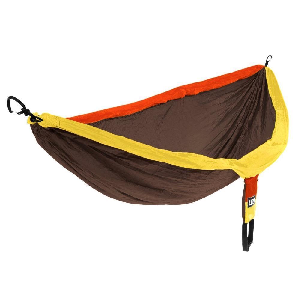 Eno lugar campamento Hamaca de peso ligero de Seda de paracaídas Nylon Chocolate Con Clips