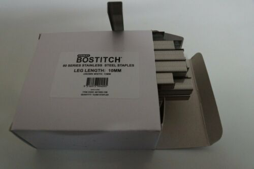 BOSTITCH STANLEY 80 Series Stainless Steel 10mm Qty10,000 RRP approx$125