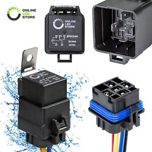 OLS-12V-40-30A-SPDT-Waterproof-Relay-Switch-Harness-Set-5-Pin-12-AWG-Hot-Wires