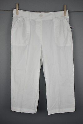 "Kim Rogers /""Woman/"" comfort waist cargo capri pants white or tan asst sizes NWOT"