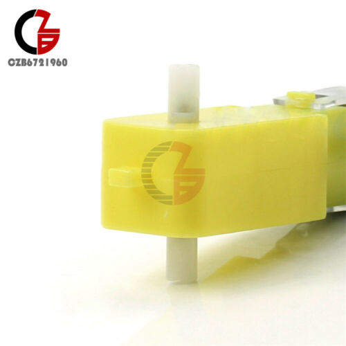 DC 3-6V Gear Motor For Arduino Robot Smart Car Robot Plastic Tire Wheel
