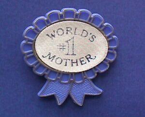 Hallmark-PIN-Vintage-WORLD-039-S-1-MOTHER-Blue-Ribbon-Brooch