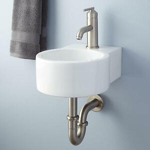 ... > Sinks > See more Signature Hardware Frida Porcelain Wall Mount