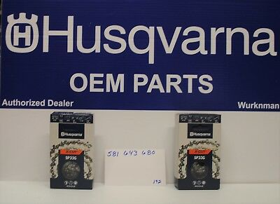 Husqvarna Set Of 3 OEM SP33G X-Cut .325 .050 80DL 20 Chain 581643680