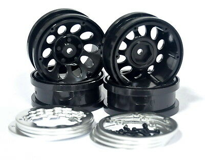 "New 4pcs 1.9 "" Beadlock wheels for axial scx10 /tamiya cc01,f350 /rc4wd TF2,D90"