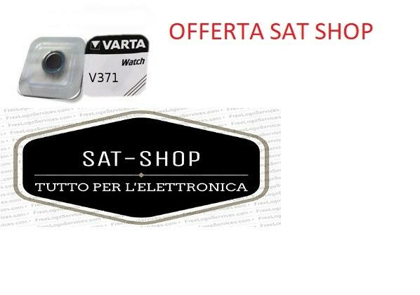 VARTA BATTERIA PILA 1,55 V V371 SR920SW PER OROLOGIO BOTTONE TAMPONE OROLOGI