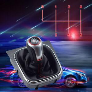 6-Speed-Gear-Shift-Knob-w-Boot-Cover-PU-Black-For-VW-Volkswagen-Golf-6-MK5-MK6
