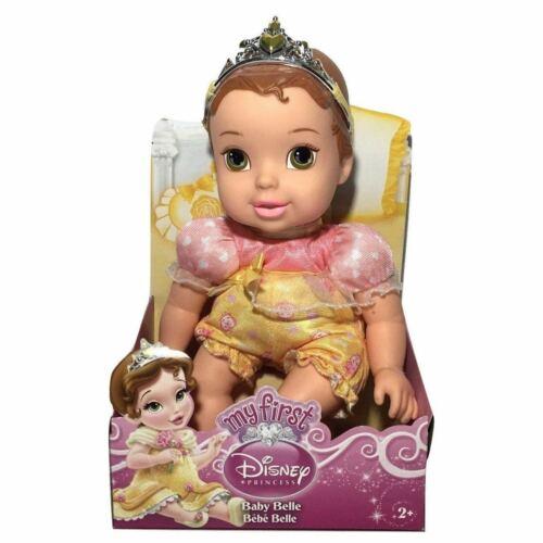 RARE Disney My First Disney Princess BABY BELLE Doll Toy First Version  New