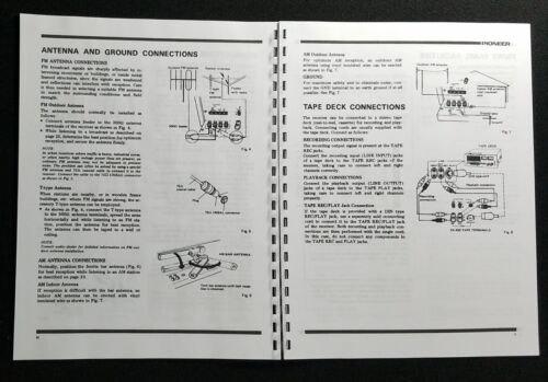 Pioneer SX-450 Stereo Receiver Owners Manual