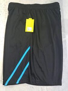 Tek-Gear-Mens-Shorts-Running-Basketball-Polyester-Dry-Tek-9-034-Inseam-Black-XXL