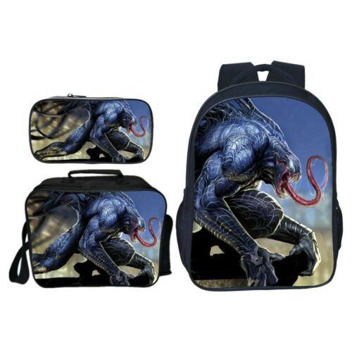 3D Print Venom Students Backpack Messenger Bag Lunch Bag Pencil Case