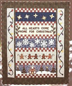 Free Paper Pieced Quilt Patterns Christmas.Details About New Paper Pieced And Applique Row Quilt Pattern Home For Christmas