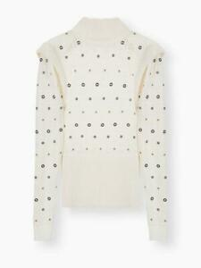 f1b6beb5316 Details about NWT Chloe Iconic Milk Turtleneck Metal Eyelet Sweater/Top  Size XS $2,150