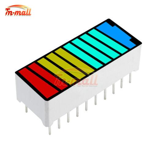 2//5//10PCS 10 Segment 4 Colour LED Battery Bar Graph Light Display Indicator DIP