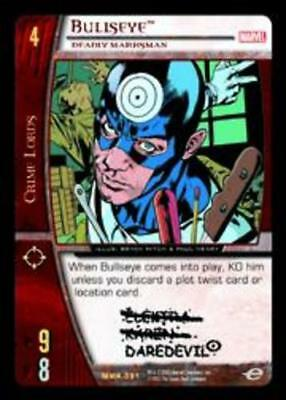 VS System: Bullseye Marvel Knights T Deadly Marksman Moderately Played Foil