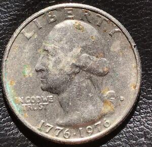 Details about 1976-D Rare Bicentennial Washington Quarter - DDO ERROR -  Double Die Mint Error!