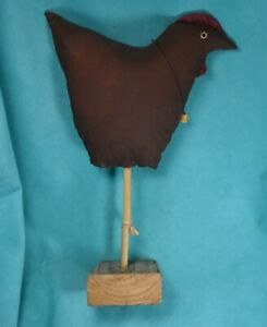 Primitive-Decor-Folk-Art-country-farmhouse-Chicken-OOAK