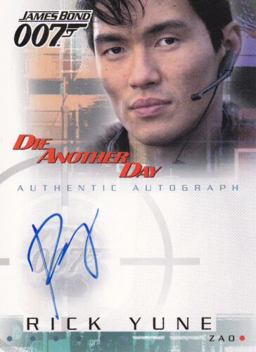 007 JAMES BOND DIE ANOTHER DAY RICK YUNE AS ZAO AUTOGRAPH CARD A6