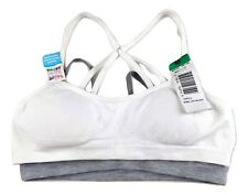 New Hanes Girl 2 Pack Seamless Pullover Flex Fit Comfort L Training Bra C20-9