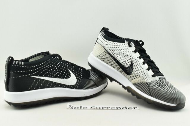 the best attitude 6f541 4bb00 Nike Flyknit Racer Golf Shoes - CHOOSE SIZE - 909756-001 Oreo White Zoom  Retro