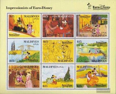 kompl.ausg. Trendmarkierung Malediven 1831-1839 Kleinbogen Postfrisch 1992 Vergnügungspark Eur