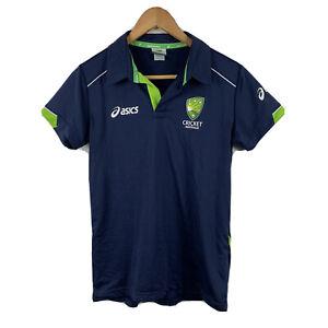 ASICS-Cricket-Australia-Womens-Polo-Shirt-Size-Small-Short-Sleeve