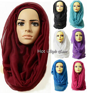 High quality Large Oversize Maxi Plain Viscose Scarf Hijab Wrap Sarong100 colour